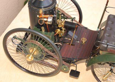 Dampfautomobil, Details Führerstand