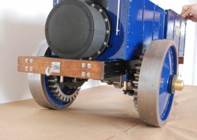 Dampfzugmaschine, Detail Antrieb hint. Achse