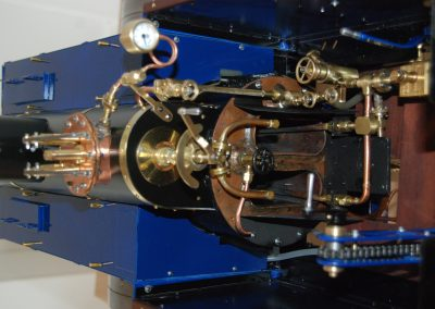 Dampfzugmaschine, Detail Führerstand