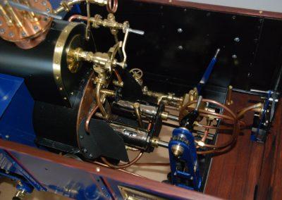 Dampfzugmaschine, Detail Führerstand m. Gasbrennern